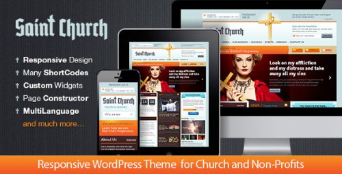 SaintChurch: WordPress Theme for Charity