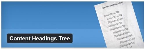 Content Headings Tree