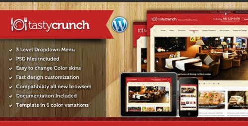 Tasty Crunch - Food Recipe and Restaurant Theme
