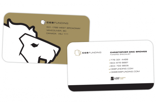 CEB Funding Die Cut Business Card