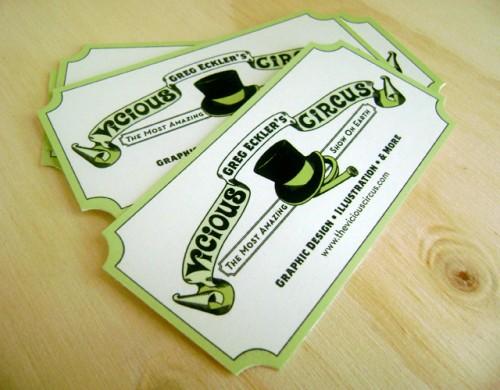Die Cut Business Card - Greg Eckler