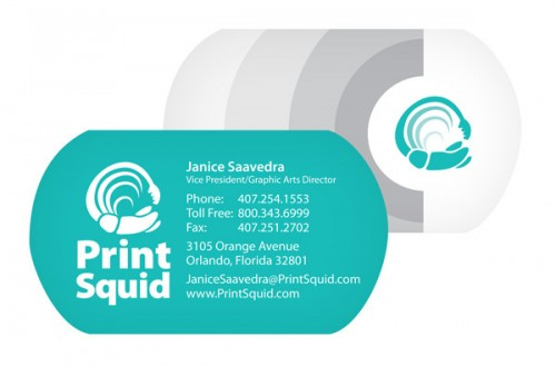 Double Sided Die Cut Business Card
