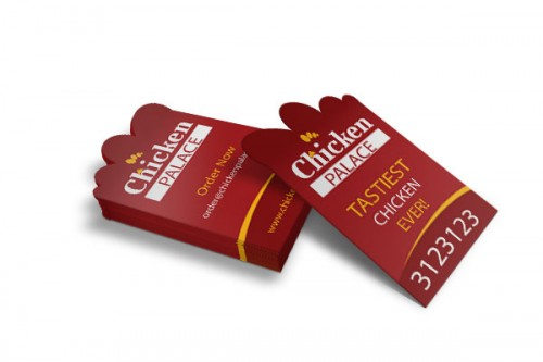 Free Chicken Palace Business Card