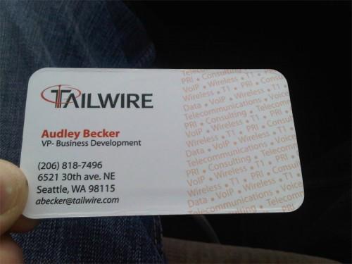 TailWire Die Cut Card Ideas