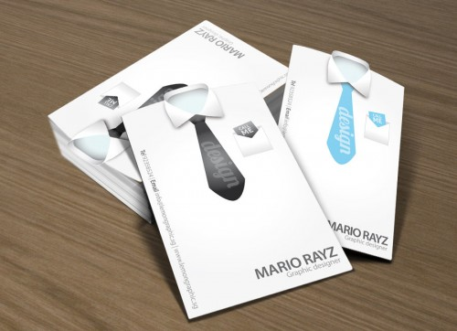 Tailored Shirt Die Cut Business Card