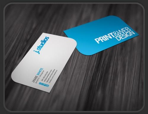 Unique Shape Business Card Design