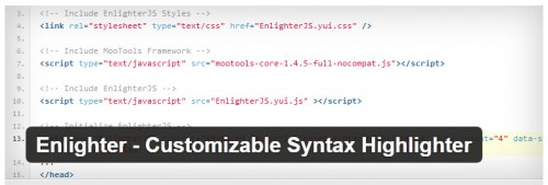 Enlighter - Customizable Syntax Highlighter