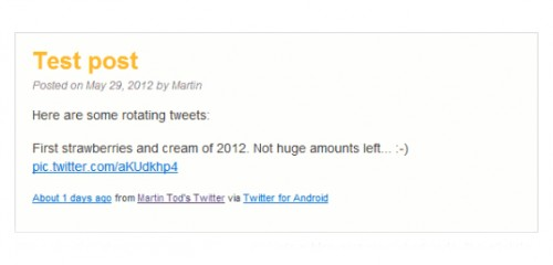 Rotating Tweets