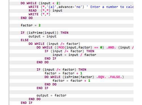 SyntaxHighlighter Evolved: Fortran