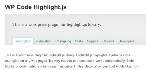 WP Code Highlight.js
