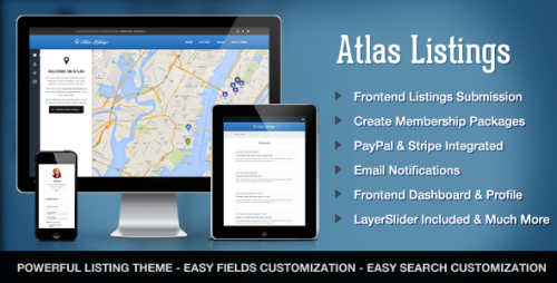 Atlas Directory & Listings Premium WordPress Theme