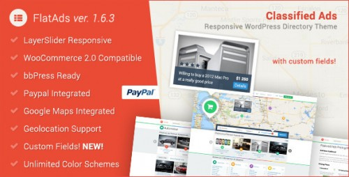 FlatAds - Classified Ads WordPress Theme