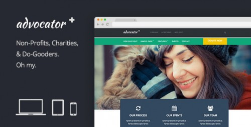 Advocator: Professional Nonprofit Organizations Theme