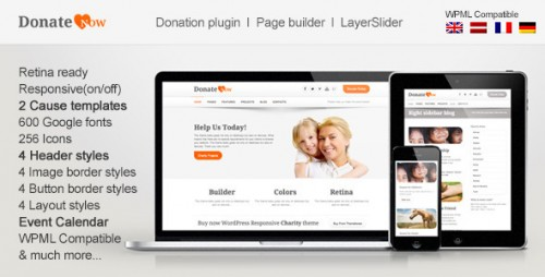 DonateNow - WordPress Theme for Charity