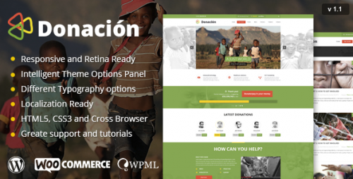 Donation Responsive WordPress Theme