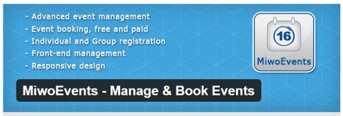 MiwoEvents - Manage & Book Events