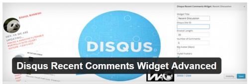 Disqus Recent Comments Widget Advanced