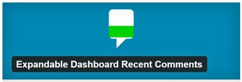 Expandable Dashboard Recent Comments