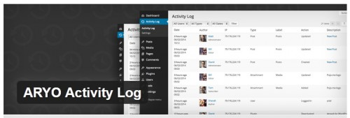 ARYO Activity Log