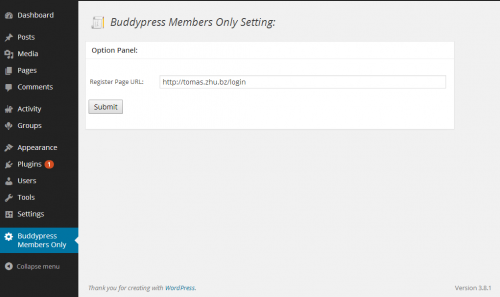 BuddyPress Members Only