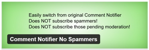 Comment Notifier No Spammers