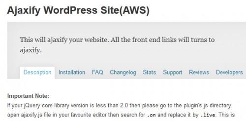 Ajaxify WordPress Site