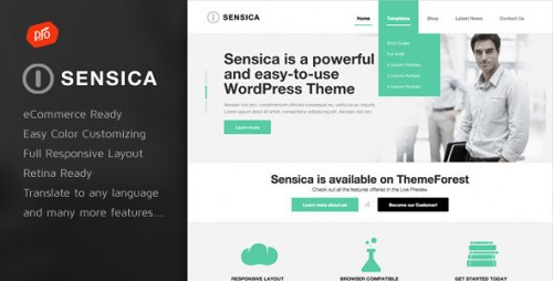 Sensica - Responsive WordPress Theme