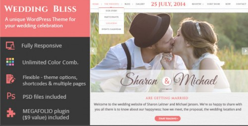 Wedding Bliss - Unique Wedding WP Theme
