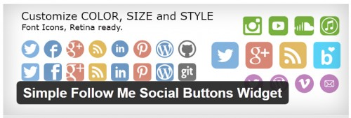 Simple Follow Me Social Buttons Widget