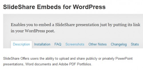 SlideShare Embeds for WordPress