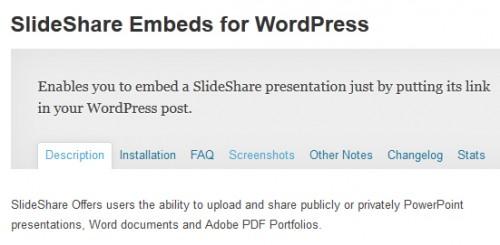 SlideShare Embeds for WordPress