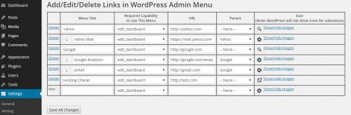Custom Links On Admin Dashboard Toolbar