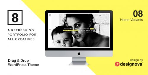 EIGHT - Photographers & Creatives WordPress Theme