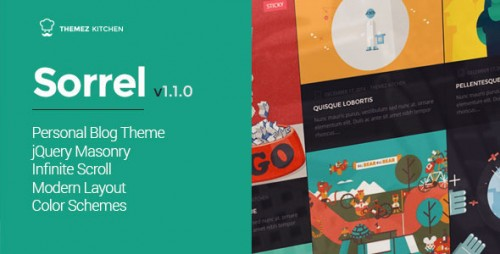 Sorrel - Modern and Responsive WordPress Theme