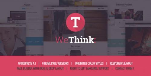 We Think - Single & Multi Page WordPress Theme