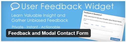 Feedback and Modal Contact Form