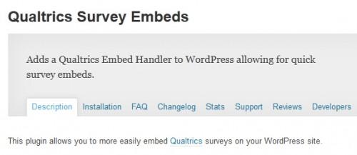 Qualtrics Survey Embeds