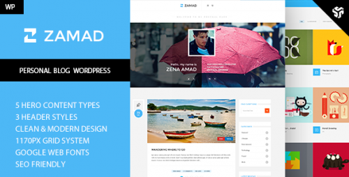 Zamad - Creative WordPress Blog Theme