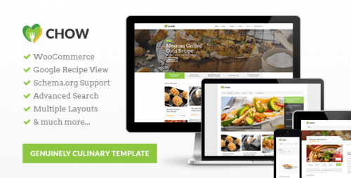 Chow - Recipe & Food WordPress Theme