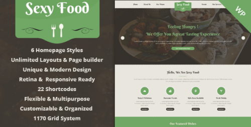 Sexy Food - Food & Restaurant WordPress Theme