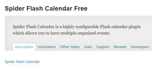Spider Flash Calendar Free