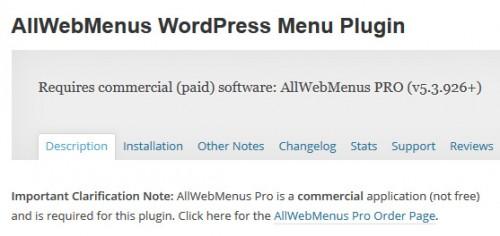 AllWebMenus WordPress Menu