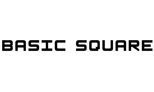 Blocky Square Fonts