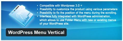 WordPress Menu Vertical