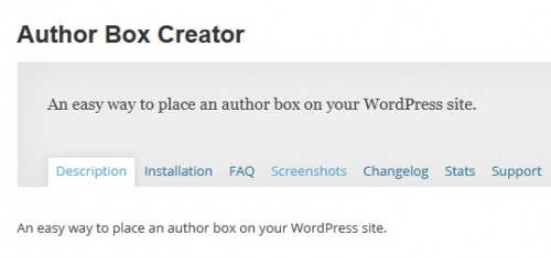 Author Box Creator