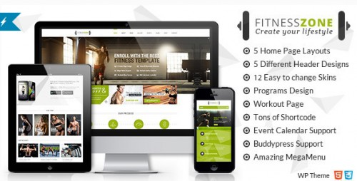 Fitness Zone - Sports, Health, Gym & Fitness Theme
