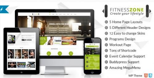 Fitness Zone - Sports, Health, Gym & Fitness Theme