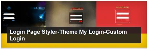Login Page Styler-Theme My Login-Custom Login