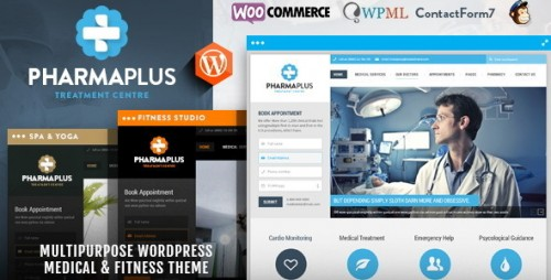 PharmaPlus - Medical & Fitness WordPress Theme