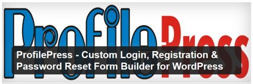 ProfilePress - Custom Login